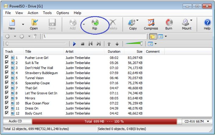 Convert CD to MP3 - Open ISO Ripper Window