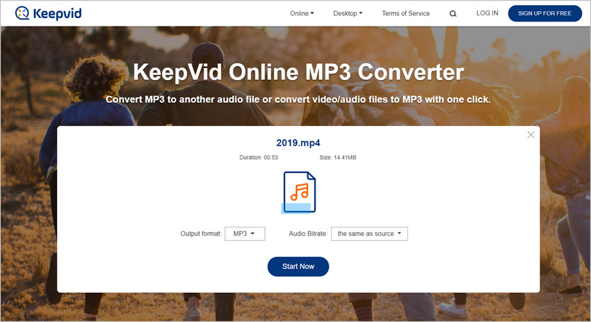 How to Use KeepVid Online MP3 Converter - Select Format for Output