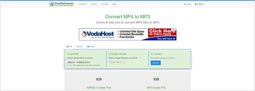 Long MP3 Converters - Free File Convert