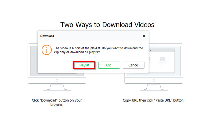 How to Convert YouTube to MP4 with iTube HD Video Downloader - Select Playlist or Video Clips