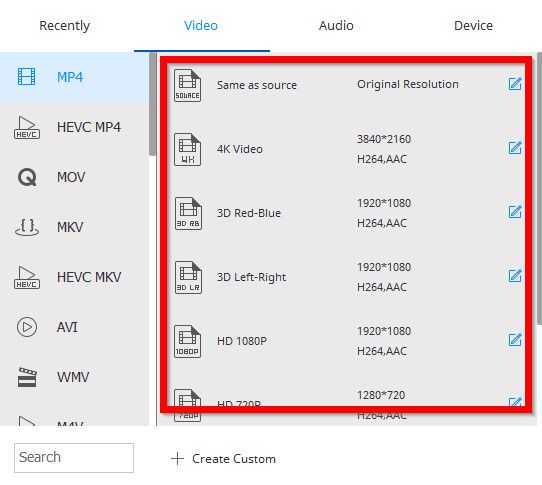 How to Convert Videos to MP4 - Select Output Video Quality