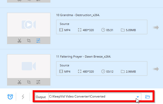 How to Convert Videos to MP4 - Select Target Folder to Save Output Video