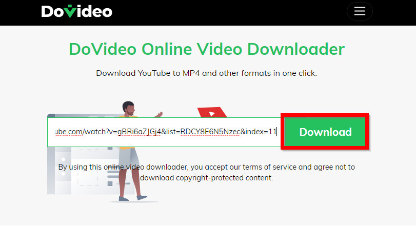 How to Convert Online Videos to MP4 - Paste URL and Click Download Button