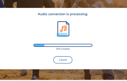 Start Converting MP3 Online